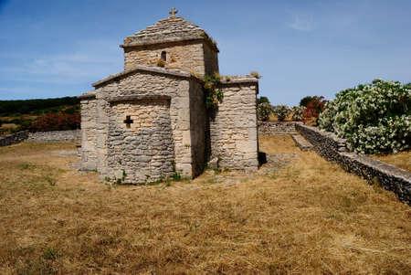 The church of Santa Maria Iscalas Stockfoto