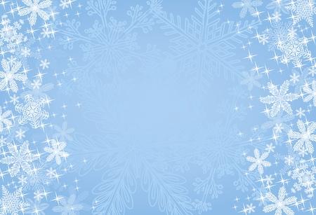 snow flakes: Blauwe winter of Kerst mis achtergrond Stock Illustratie
