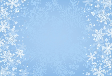 Blue Winter or Christmas Background
