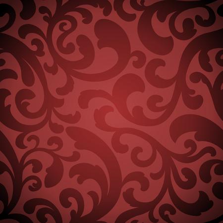 エレガントな赤いトーン シームレスな繰り返しタイル パターン。