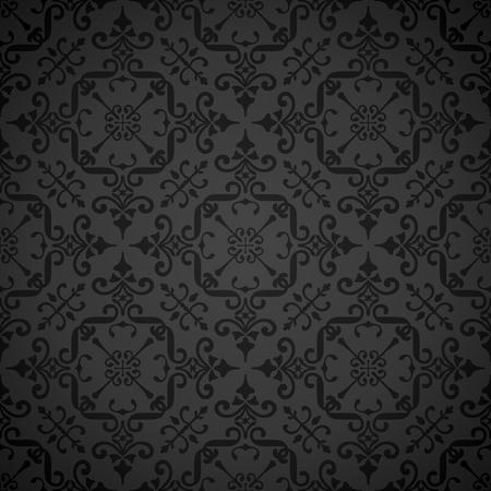 우아한 반복 대칭 벽지 패턴