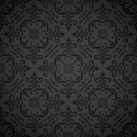 Elegant Repeating Symmetrical Wallpaper Pattern