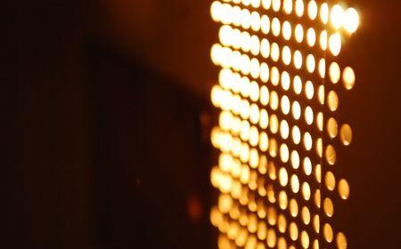 抽象的な輝くぼやけてライト 写真素材