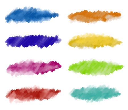 一連のテクスチャの水彩ブラシ ストローク