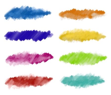 Set of textured watercolor paintbrush strokes Illustration