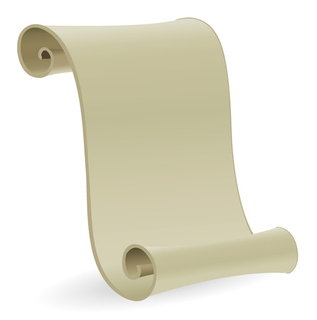 vellum: Vector illustration of a blank vintage scroll parchment. Suitable for background, with copyspace. Illustration