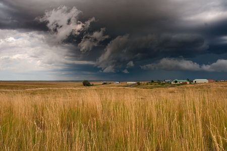 thunderclap: A powerful storm brews over the plains of eastern Colorado