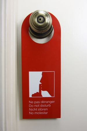 door knob: Do not Disturb 2