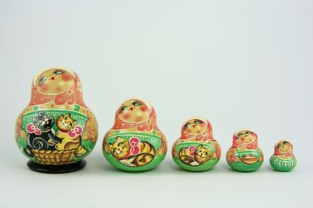 Russisch nesting dolls Standard-Bild - 3916891