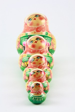 Russisch nesting dolls 1 Standard-Bild - 3948149