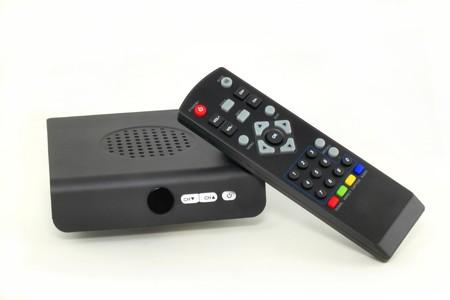 Analog to Digital TV converter box Stock Photo