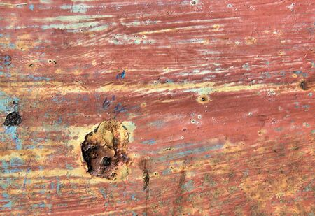 Rusted and painted steel background Stock Photo - 4543250