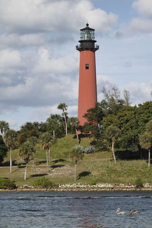 View of the Jupiter lighthouse in Palm Beach County, Florida