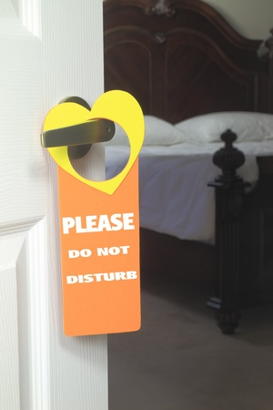 Do Not Disturb hanger in natural settings photo
