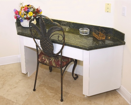 Utility desk as used in luxurious kitchens