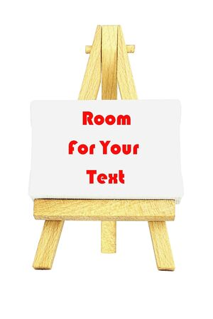 Easel with a blank canvas to be used for text and other purposes by the designer Stock Photo - 11688996