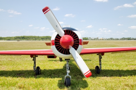 seater: Russian Yakolev YAK 52 Trainer Airplane parked in Tamiami Airport, Miami, FL