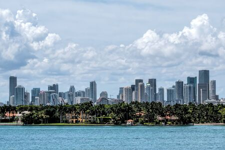 View of the Miami Skyline with offices and Apartments