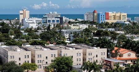 View of the real Miami Beach away from all the hustle and bustle of touristy South Beach