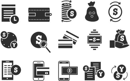 Simple set of finance and money icons