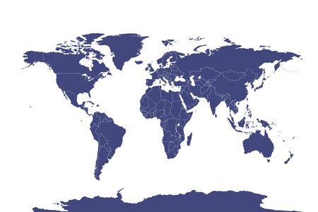 political map of the world. vector illustration. Illusztráció