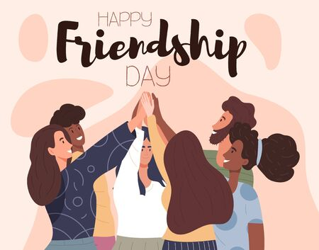 Happy Friendship Day card or poster desig