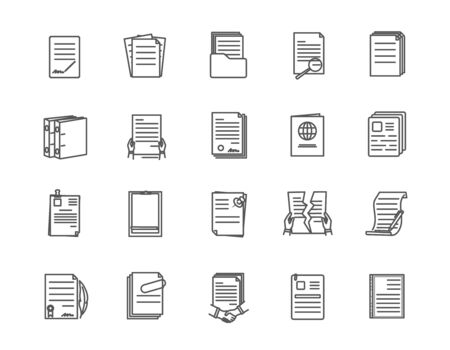 Large set of document icons with different layouts