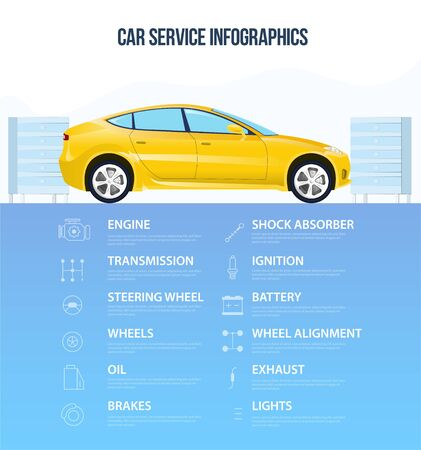 Infographic car service worksheet