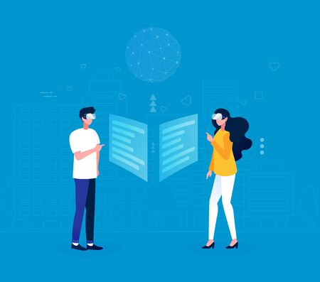 Communication through virtual reality concept