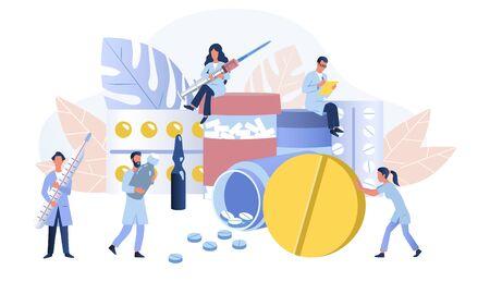 Pharmacy or apothecary concept Vektorové ilustrace