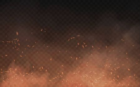 Abstract brown background of smoke and sparks Banco de Imagens - 142837129