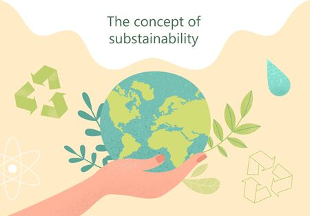 Sustainability concept. Vector Illustration