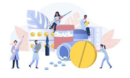 International pharmacy business concept
