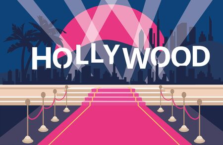 Hollywood red carpet background Çizim