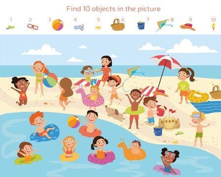 Finde 10 Objekte im Bild