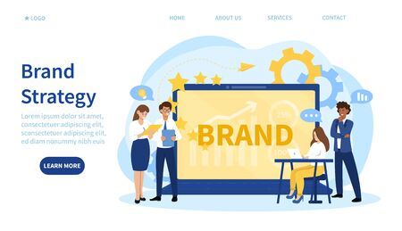 Online business Brand Strategy concept