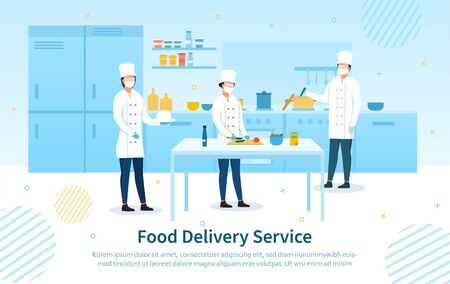 Food Delivery Service showing the chefs