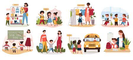 Eight different back to School scenarios