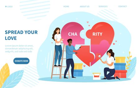 Spread Your Love concept supporting Charity Vectores