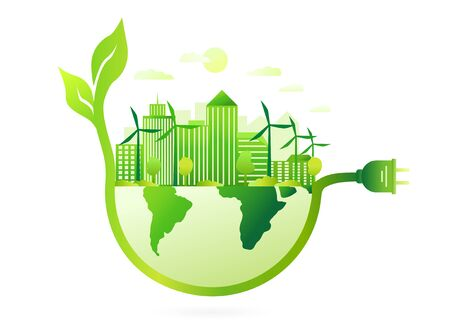 Green city concept using renewable energy