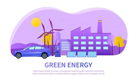 Urban green energy concept using wind turbines
