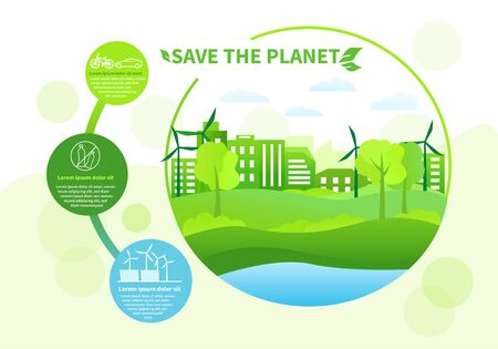 Save the Planet concept with Green Energy