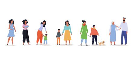 Growing up concept from baby to grandparents