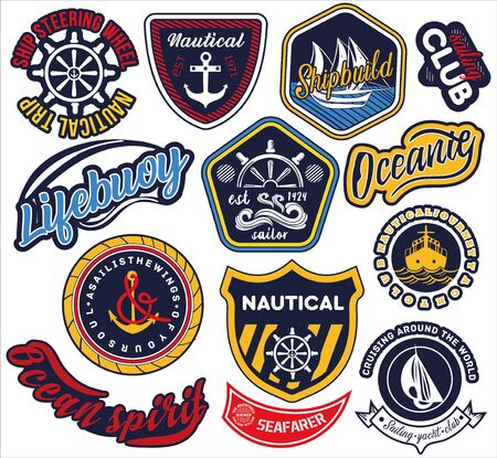 Large selection of nautical and maritime labels