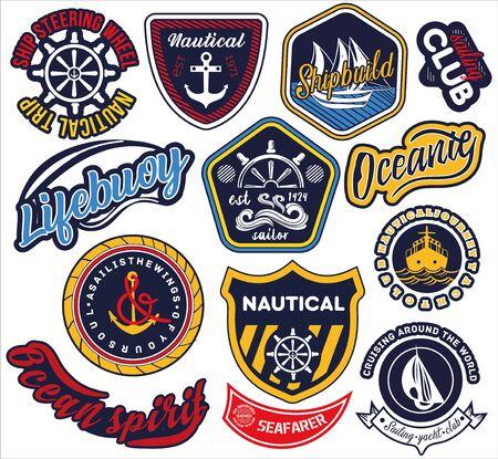 Ampia selezione di etichette nautiche e marittime