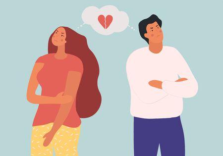 Divorce or family break up concept