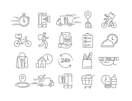 Large collection of 20 different delivery icons