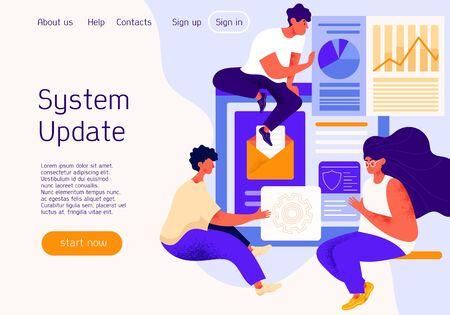 System Update on a website Ilustração