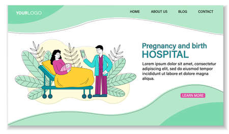 Pregnancy and Birth in Hospital concept