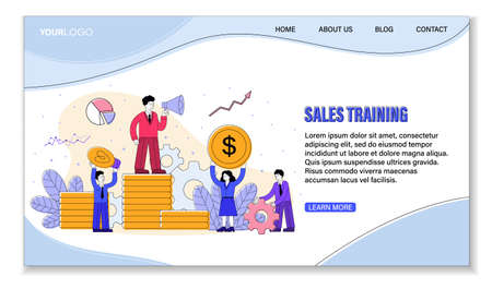 Sales Training, Leadership and Success concept